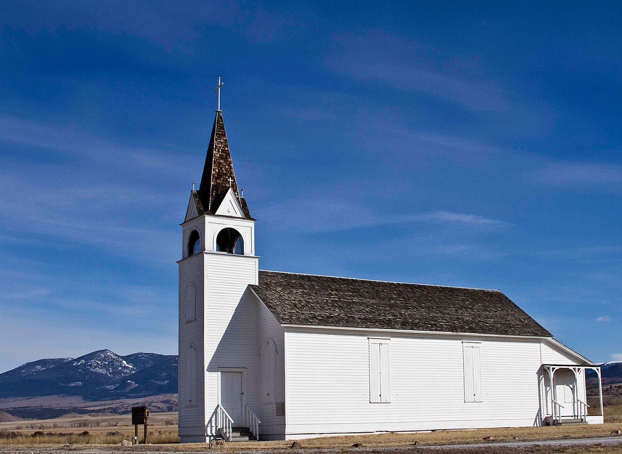 The Historic Canton Church was built in 1876 and is significant as the oldest secular Roman Catholic church still standing in Montana.