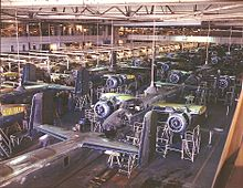 Prior to the construction of this and other World War II plants, demand for aircraft was fairly low and most planes were built one at a time.