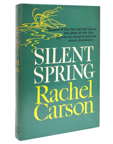 """Carson's most infamous book, """"Silent Spring.""""  https://www.nrdc.org/stories/story-silent-spring"""