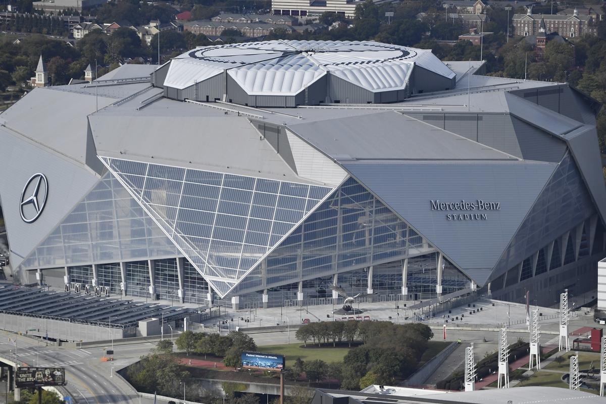 New Falcons Stadium. Mercedes-Benz Stadium