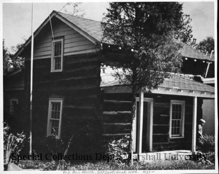 Old Toll House in 1970 in Barboursville. Courtesy of Marshall University Special Collections.