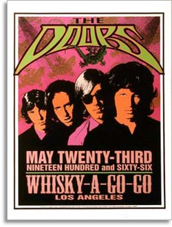 promo poster for the door to perform at the Whisky a go go