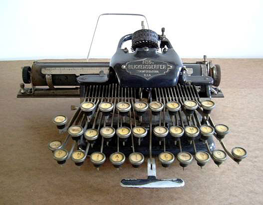 An early typewriter on display at the museum.