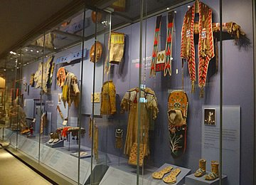 The outfits were worn by Native American Indians.