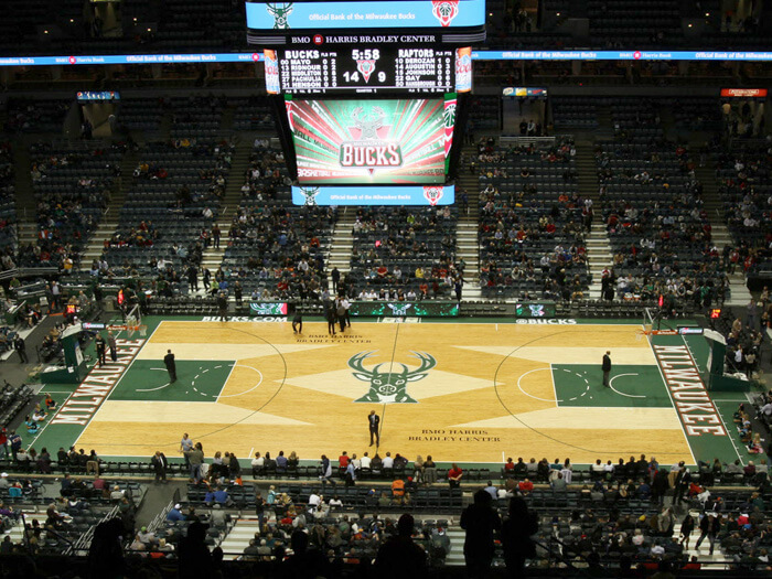 The arena was home to the Milwaukee Bucks until the completion of the Fiserv Forum