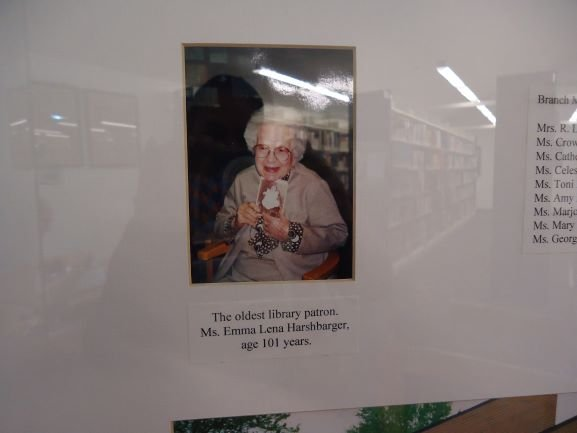 The oldest member of Milton Public Library.