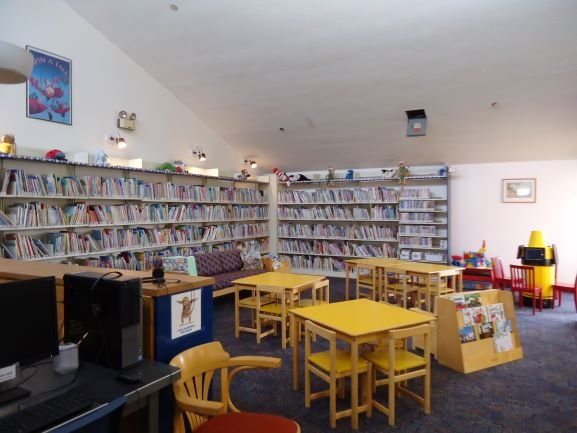 The children section at Milton Library.