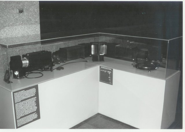 """1938-1939. Bausch & Lomb built this spectrometer to Dr. Frederick Brackett's design.  The device contains two of the largest natural quartz prisms in the world.  For more information, follow the link """"Brackett Spectrometer"""" at the bottom of the page."""