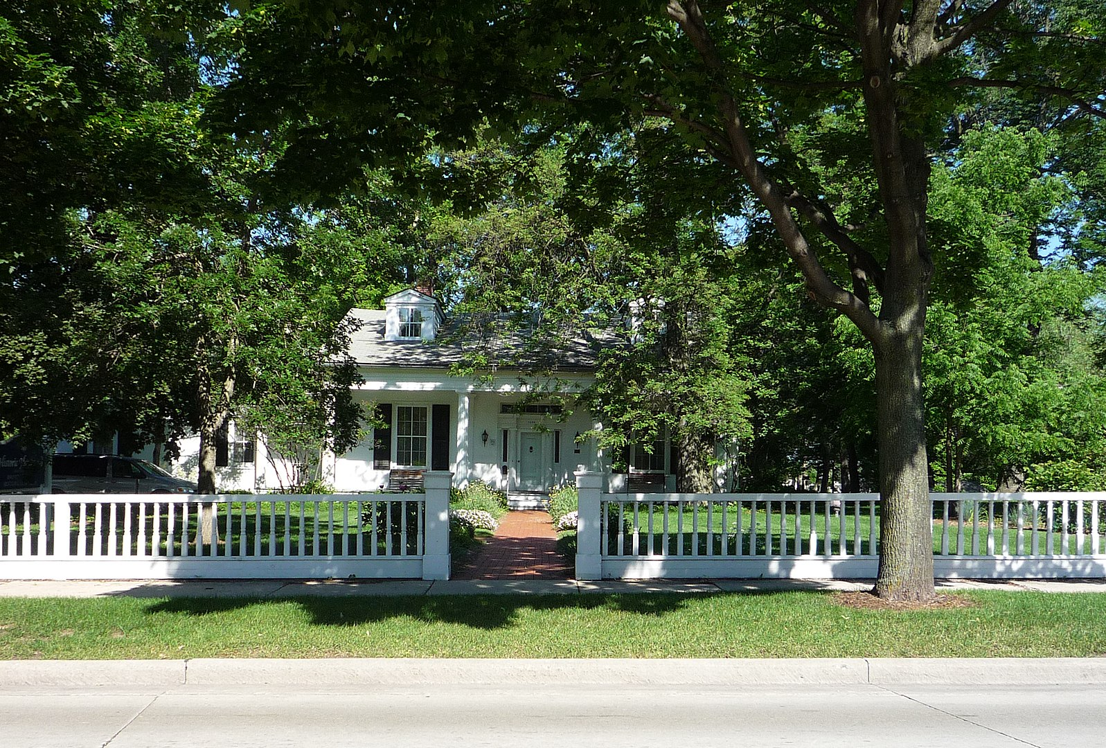 Hazelwood Historic House Museum (built in 1837) and home of the Brown County Historical Society