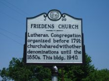 Historic Marker for Friedens Church