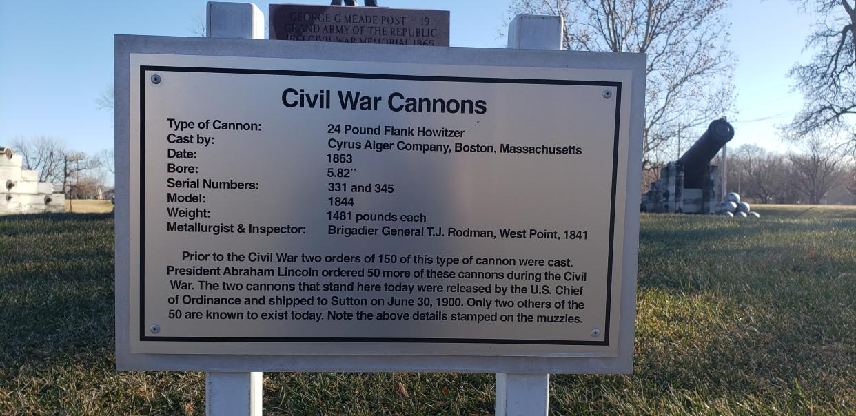 At the center of the site detailing the cannons