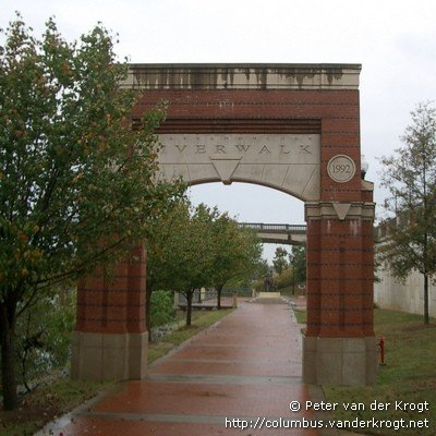 This is the gate on the south side of the RiverWalk