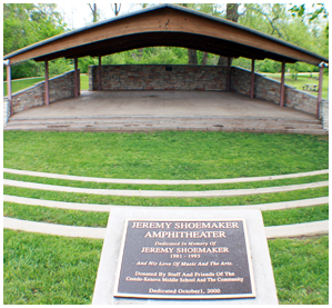 The Jeremy Shoemaker Amphitheater was dedicated on October 1, 2000 and is the site of concerts and other performances hosted at the park.