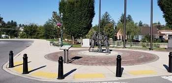 Chambers Fort Park and Founding Family Statue