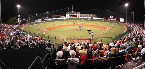 A picture of Mitch Stadium.