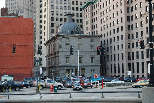 2007 Photo of the U.S. Customshouse, with the dome top visible.