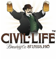 The Civil Life logo including its mustachioed, nineteenth century mascot.