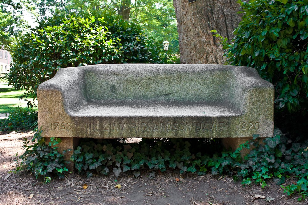 The front of Davie Bench