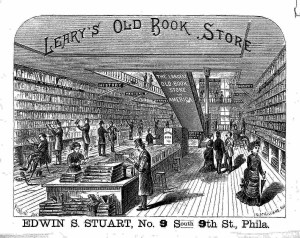 This is an advertisement for Leary's Bookstore. Consumers could find over 900,00 used books.  https://blogs.princeton.edu/notabilia/2011/11/13/learys-bookstore-philadelphia-ca-1880/