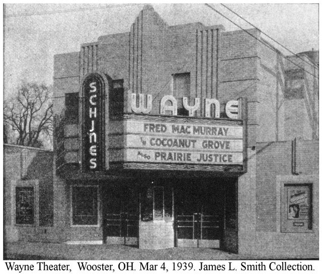 The Wayne Theater was at one time part of the Schine's Theater chain. (Pictured here in 1939, from the James L. Smith Collection.)