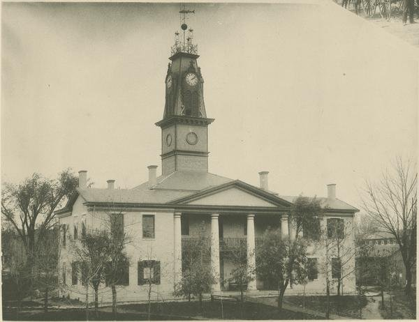 The second courthouse building was erected in 1821, costing roughly $7,965. It was first occupied in 1826, remaining in use until its demolition in 1906 when construction on the new and current building could begin.