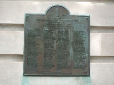 The Monroe County World War II Honor Roll is a plaque that reads the names of those who made the supreme sacrifice in that war. It was dedicated by the Bloomington and Friendship Garden Clubs.