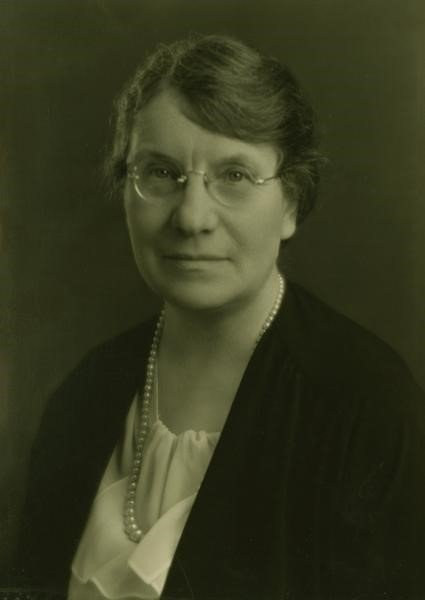 """From 1944 to 1946, Dr. Agnes Wells lived in the Millen House, then called """"Wellswood"""". Since 1919 she had acted as Dean of Women at IU and a professor of mathematics and astronomy, serving as administrator, educator, and avid equal rights activist."""
