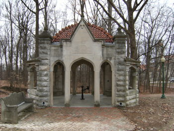 The Well House was constructed in 1908 and remains one of the iconic landmarks on the IU campus.