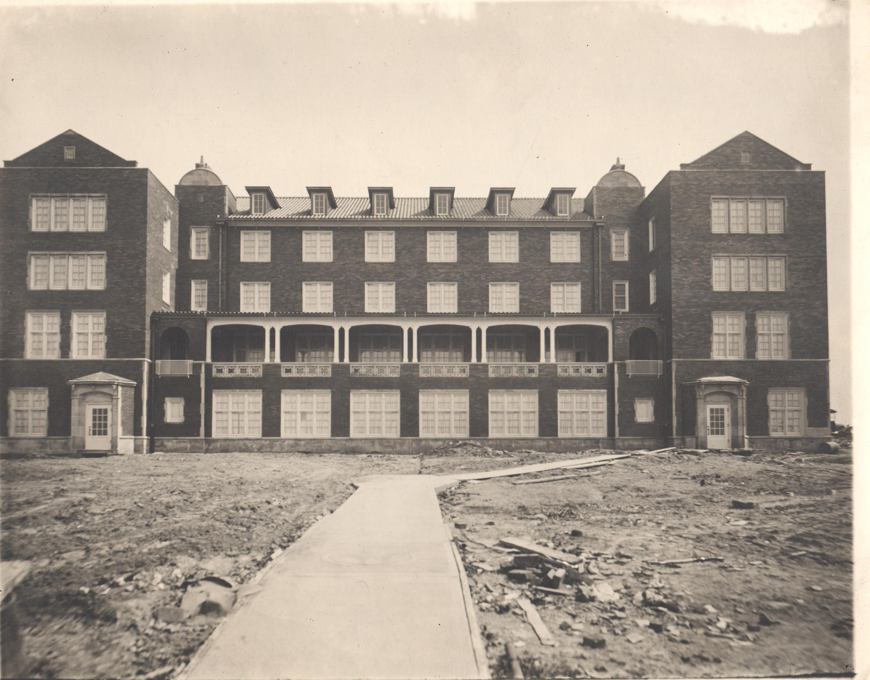 Image of Patton Hall after its construction was completed