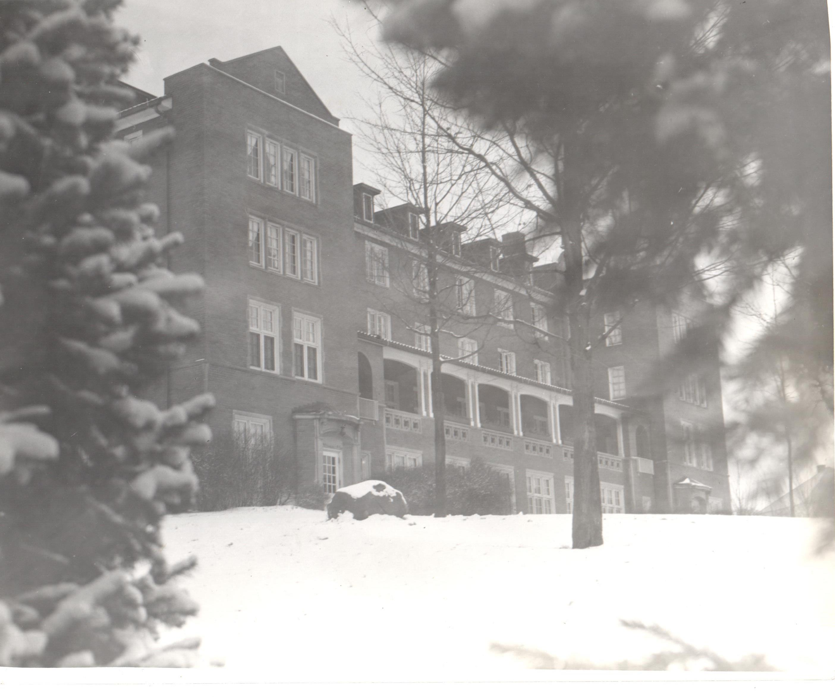 View of Patton Hall in the winter months