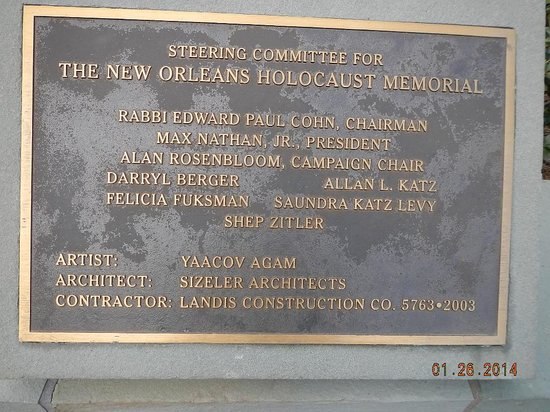 Holocaust Memorial Plaque
