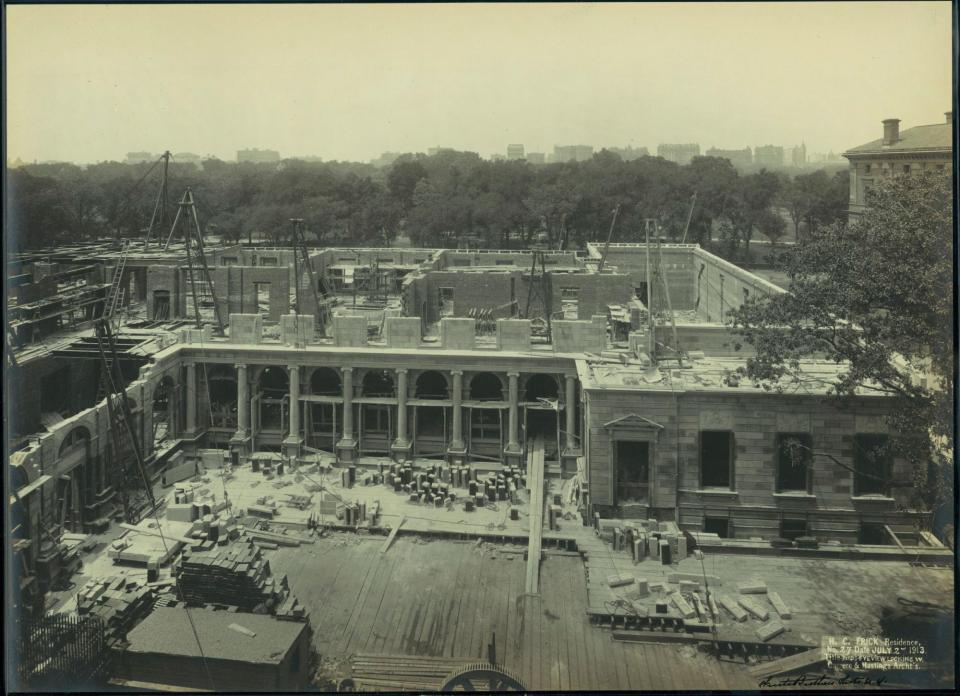 The Frick House under construction in 1913.