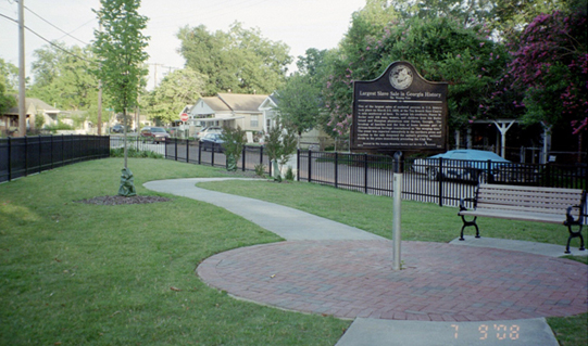 The park containing the Weeping Time marker is one of the few historical sites that remember the slave history of the south.