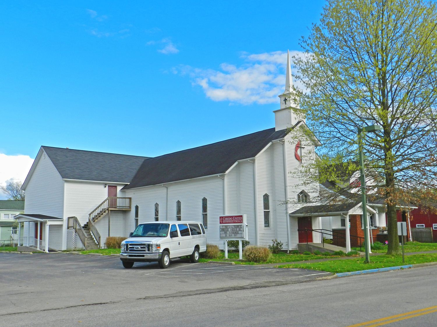 The CUMC sanctuary was constructed around 1879 and remains in use today.