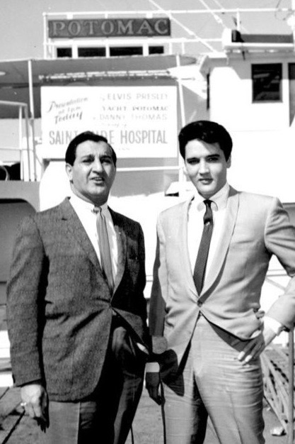 Elvis Presley Deeding the USS Potomac to St. Jude Children's Research Hospital, Pictured with Danny Thomas, 1964