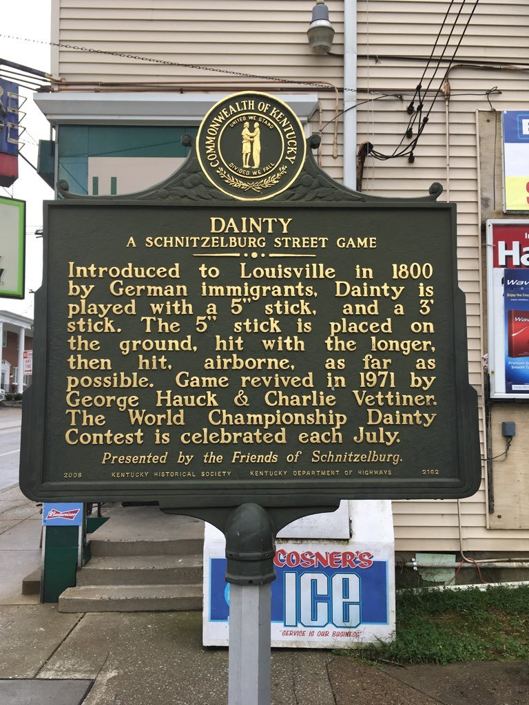 """Dainty"" historical marker outside Hauck's Handy Store, 1000 Goss Avenue."