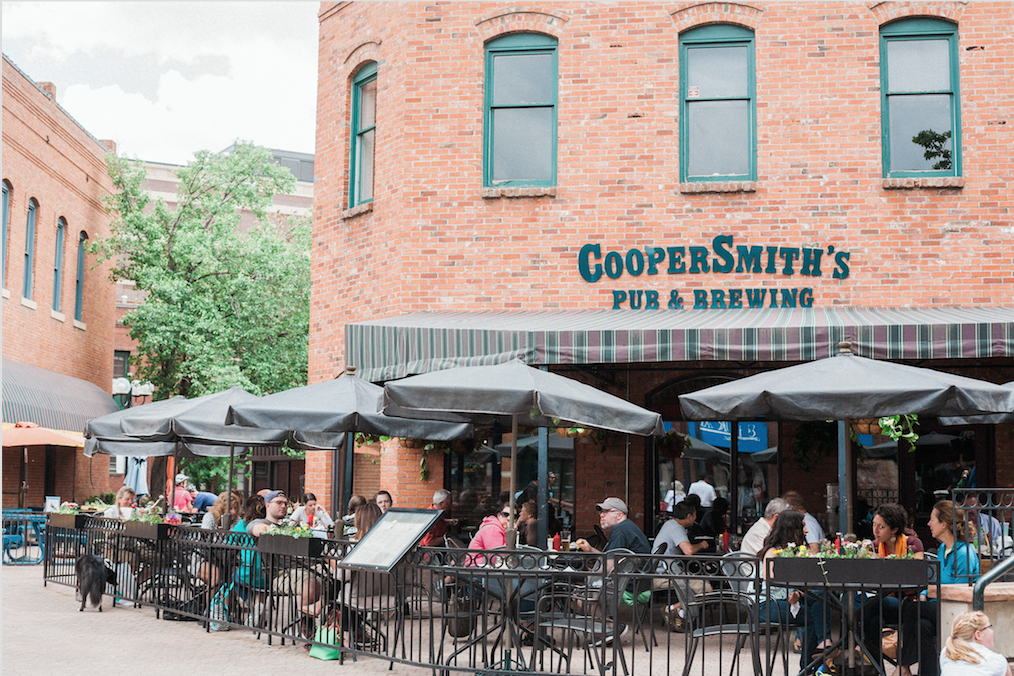 The Poolside patio, featuring the main view of the venue from East Mountain Avenue. (Courtesy of Coopersmithspub.com)