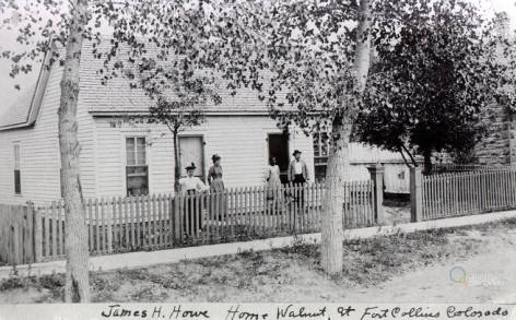 James and Eva Howe house circa 1892. The place where James Howe murdered his wife Eva.