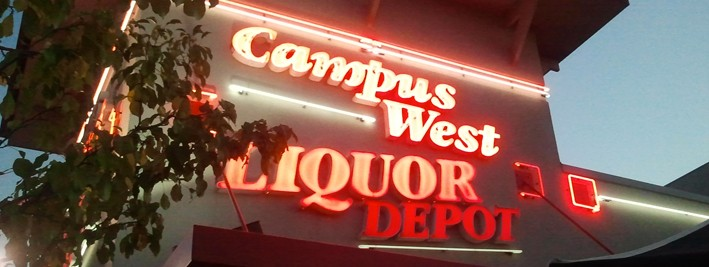 Modern Day Campus West Liquors. http://campuswestliquors.com/home