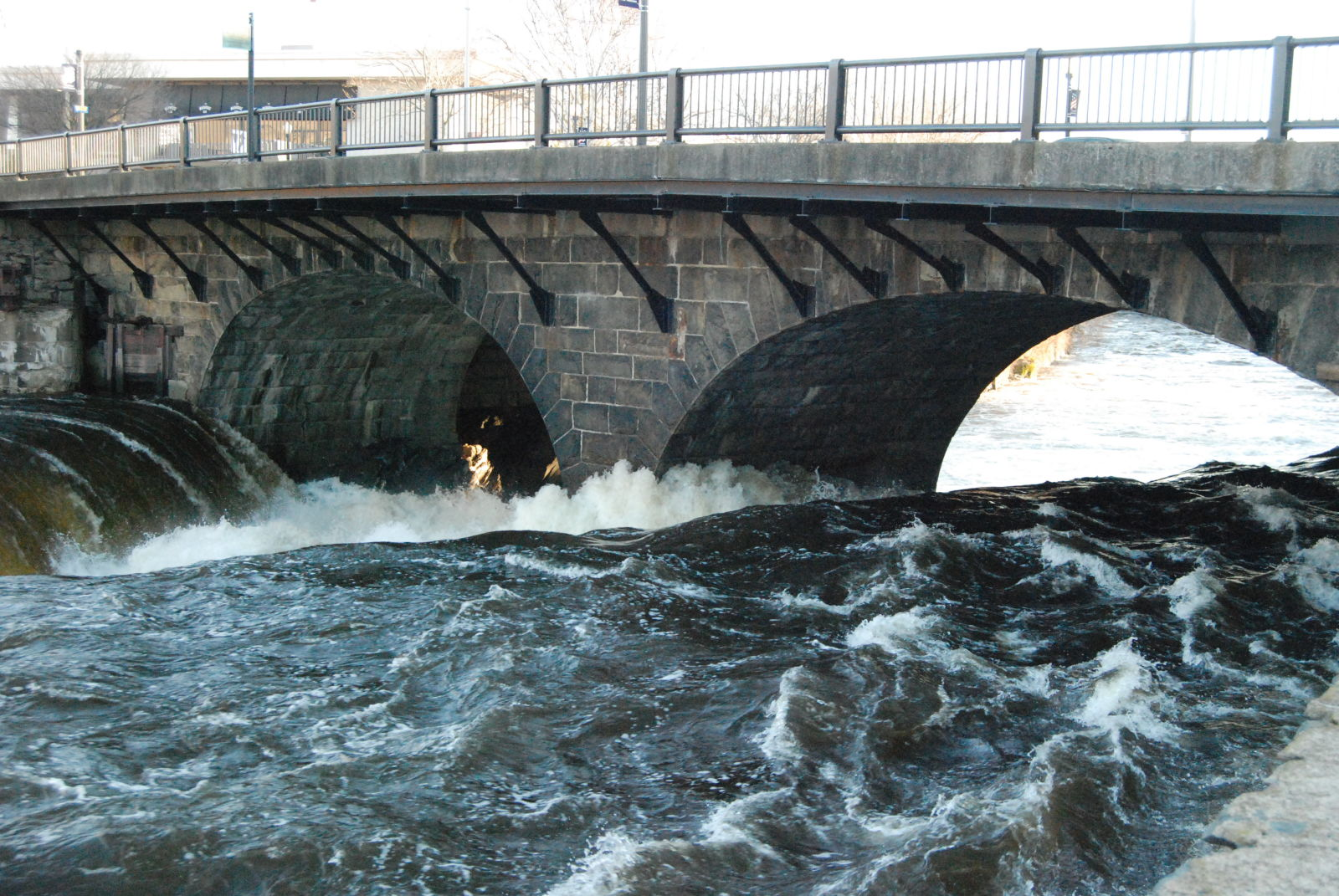 Pawtucket Falls and Main Street Bridge.