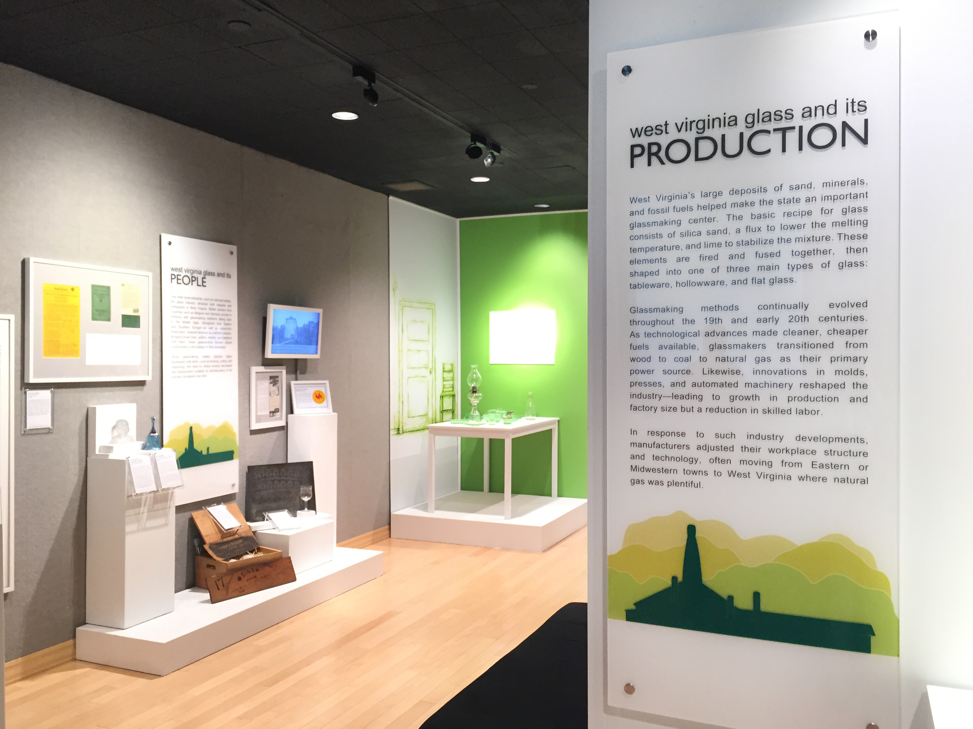History students at WVU have helped curate exhibits such as the 2016-2017 exhibit, Molded in the Mountains: The Glass Industry in West Virginia.