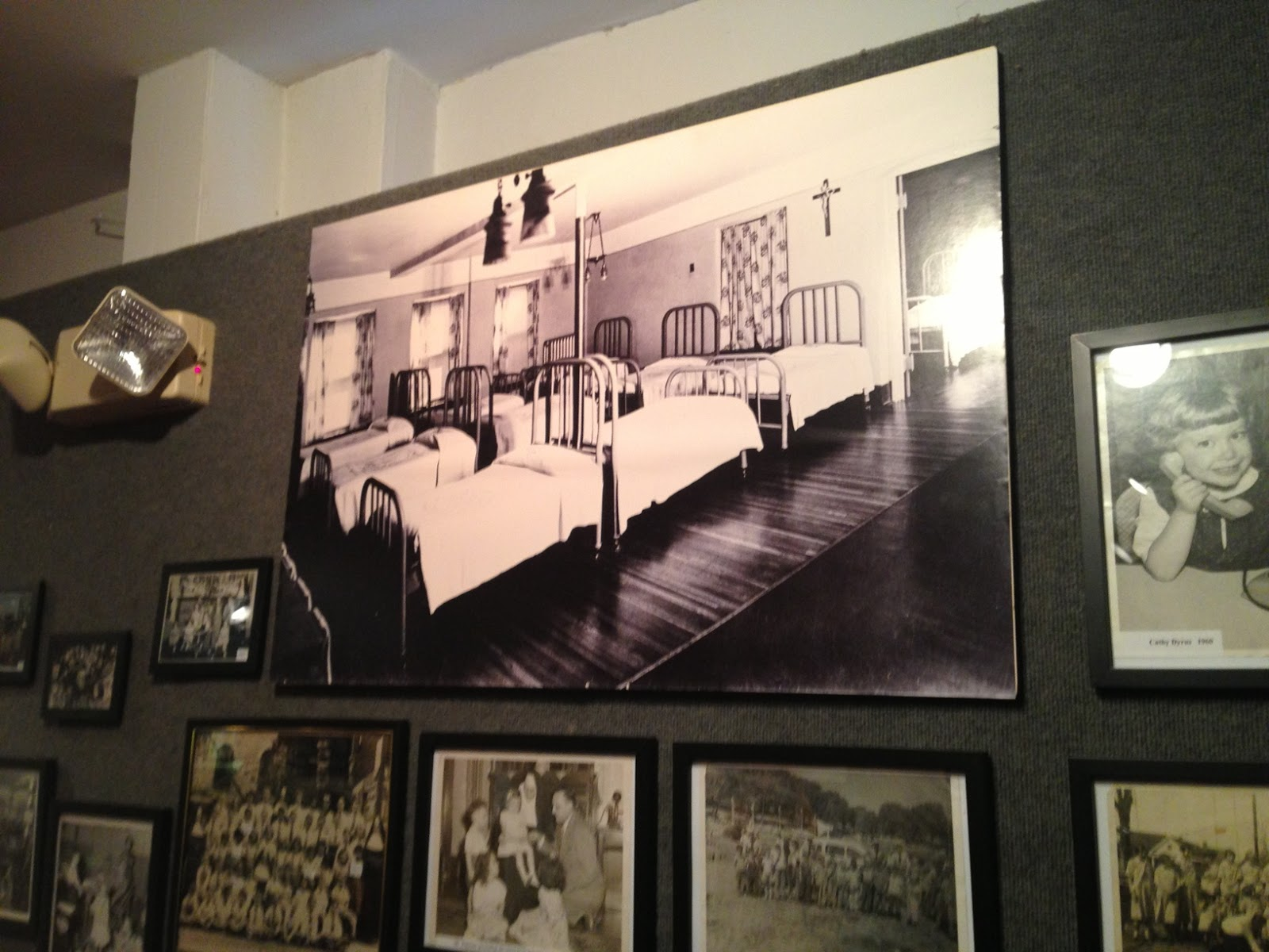 Exhibits tell the story of the orphanage, run in the home from 1919-1988
