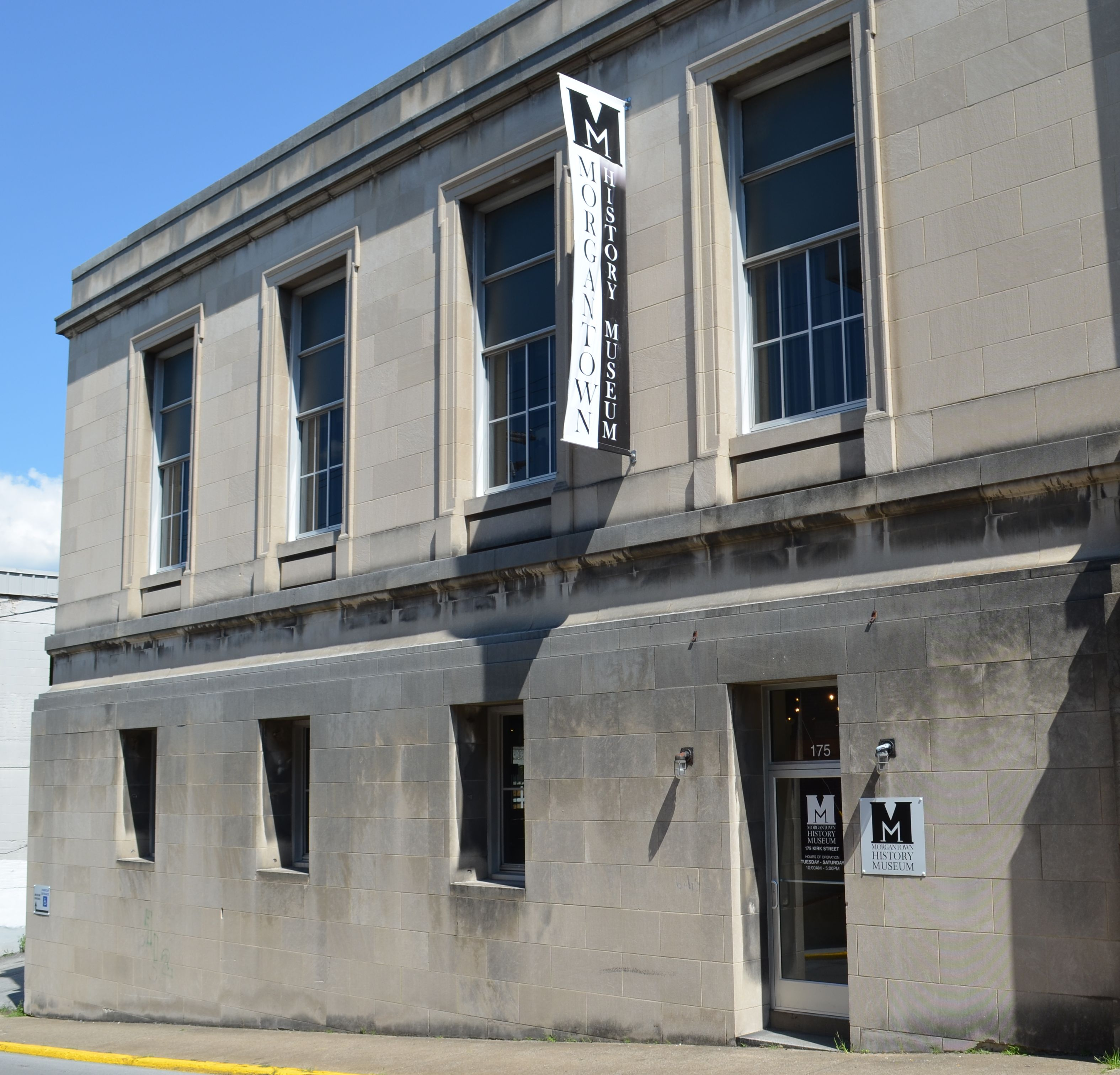 The Morgantown History Museum is located directly behind the Morgantown Arts Center.