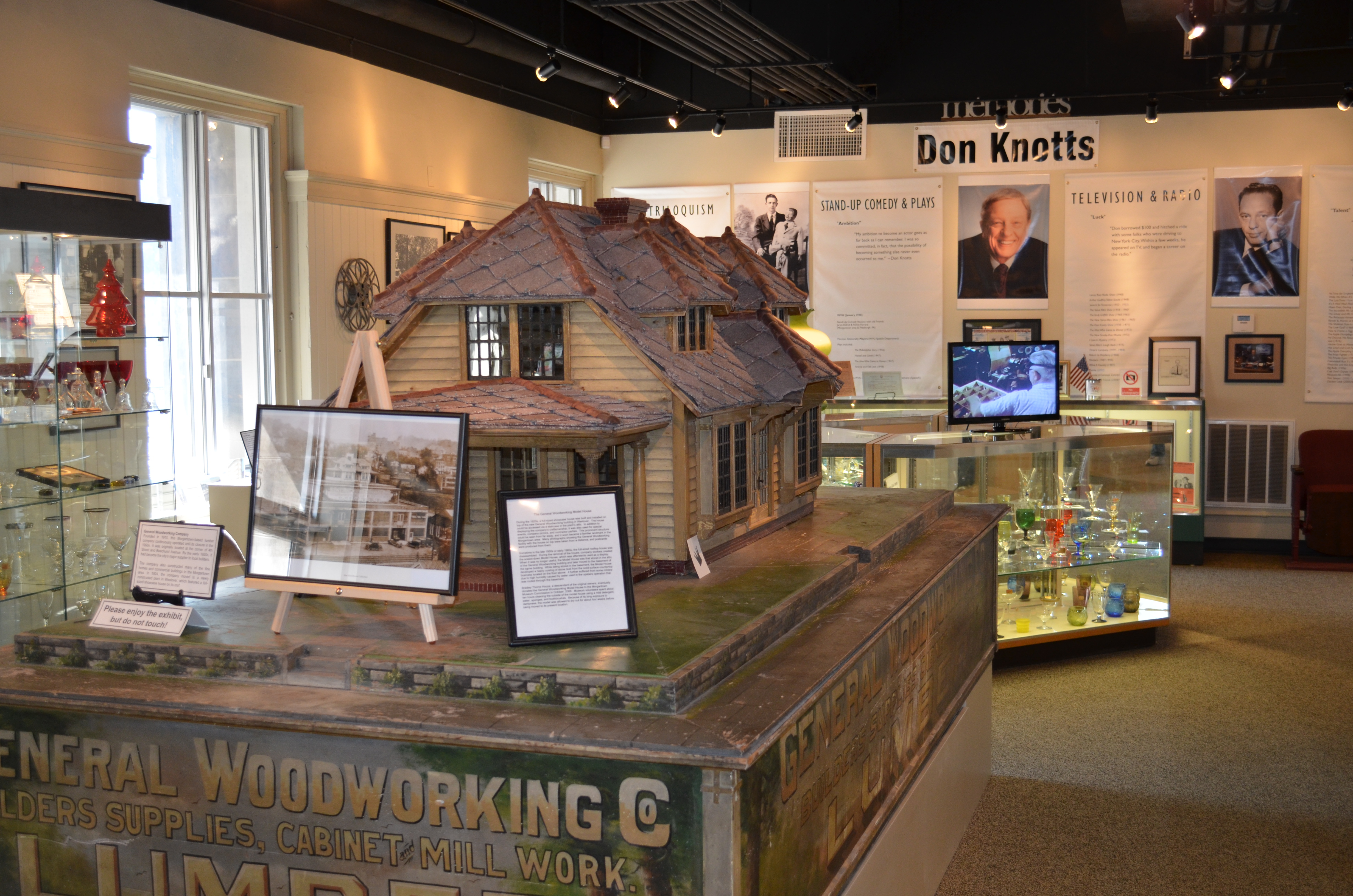 The museum's exhibits focus on the growth of the region in from the late 18th century to the present.