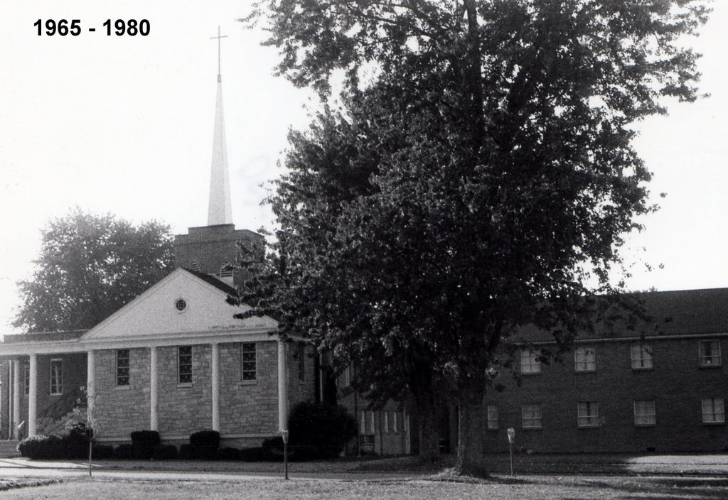 The sanctuary in the 1960s following the addition of a narthex (front lobby area).