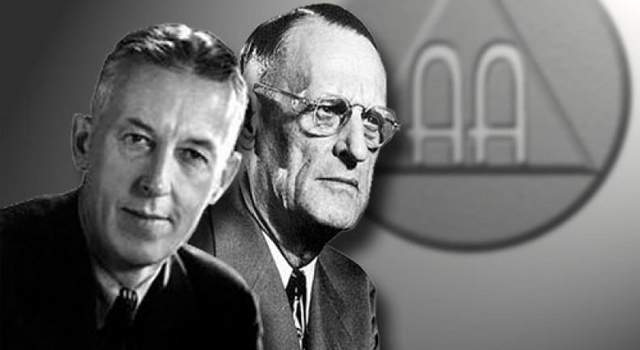 Bill W. on the left and Dr. Bob on the right, the co-founders of Alcoholics Anonymous.