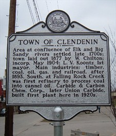 Historic highway marker in Clendenin.