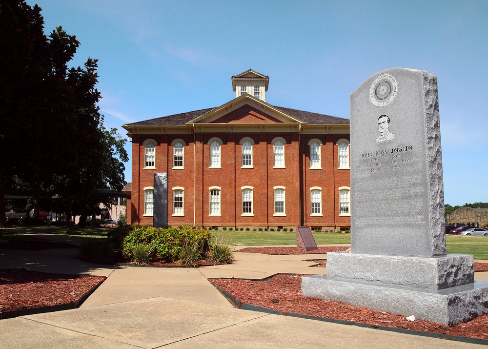 Monument to the Cherokee Chief John Ross in Front of the Museum