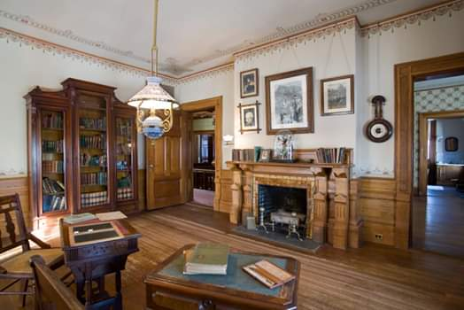 Originally planned as Sam's study, this room became the school room for the Clemenes' children.