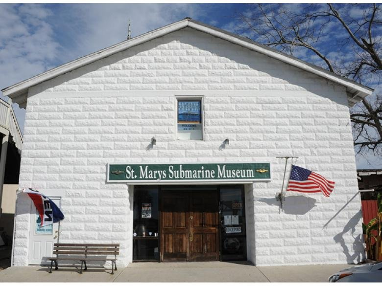 Outside of the Museum located in a historic city building built in 1911. Credit: St. Marys Submarine Museum